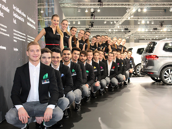 Hospitality Service bei Vienna Autoshow
