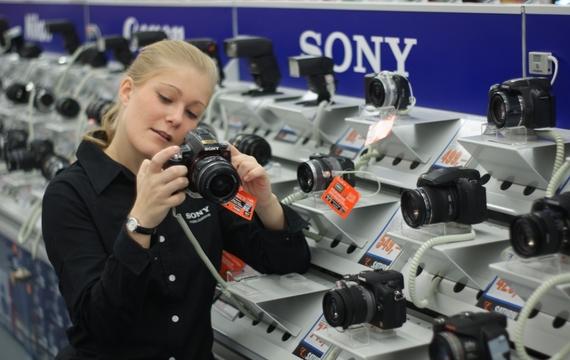 Kundin testen Sony-Kamera