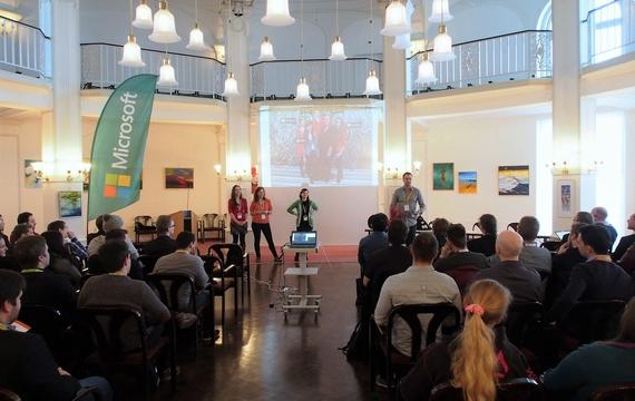 Meeting und Präsentation für Microsoft Promotion