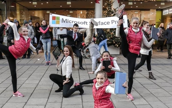 Flashmob für das neue Windows Surface