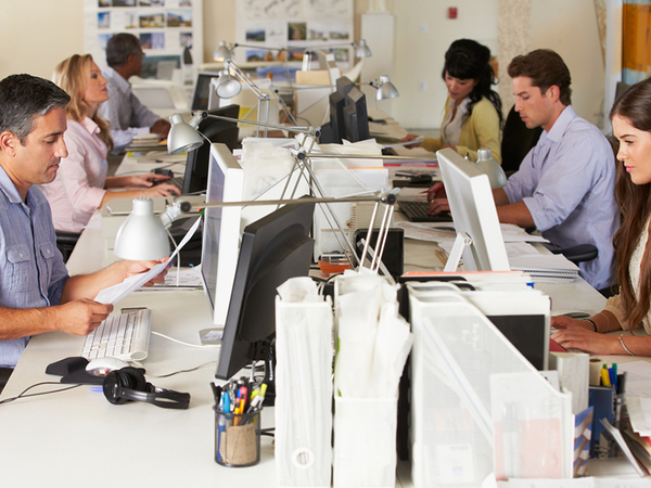 Büro mit Angestellten