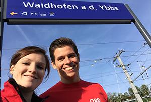 Zwei junge Mitarbeiter für ÖBB